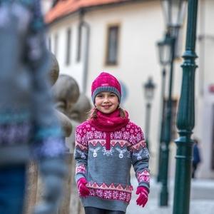 Detský pletený Merino nákrčník SB12 114, Kama
