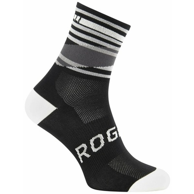 Dizajnové funkčnou ponožky Rogelli STRIPE, čierno-biele 007.203, Rogelli