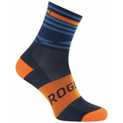 Dizajnové funkčnou ponožky Rogelli STRIPE, oranžovo-modré 007.205, Rogelli