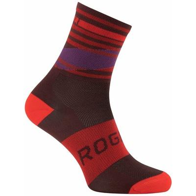 Dizajnové funkčnou ponožky Rogelli STRIPE, červeno-vínovo-fialové 007.206, Rogelli