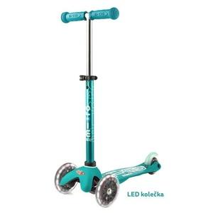 Kolobežka Mini Micro Deluxe Aqua LED, Micro