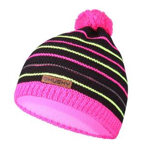 Detská čiapka Husky Cap 35 ružová / neon žltá, Husky