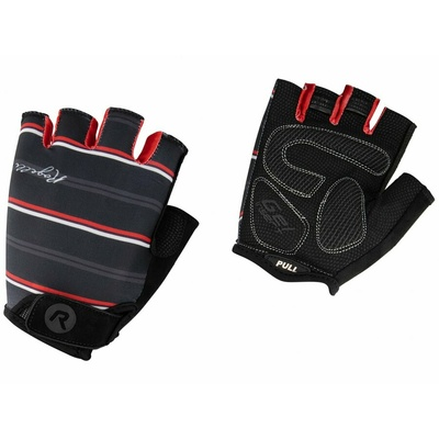 Dámske rukavice na kolo Rogelli STRIPE, čierno-bielo-červené 010.619, Rogelli