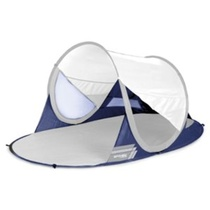 Samorozkládací plážová paravan Spokey STRATUS UV 40 190x120x90 cm bielo-modrý, Spokey