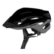 Cyklistická prilba pre dospelých Spokey SPECTRO 58-61 cm, čierna, Spokey