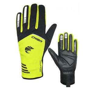 Cyklistické rukavice Chiba 2nd SKIN čierno / žlté 31239.03-1, Chiba