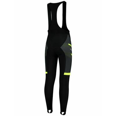 silne hrejivé cyklistické nohavice Rogelli TEAM 2.0 s gélovú výstelkou, čierno-reflexná žlté 002.970, Rogelli