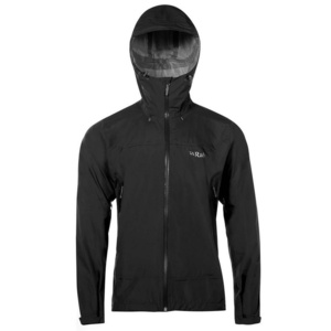 Pánska bunda Rab Downpour Plus Jacket black, Rab