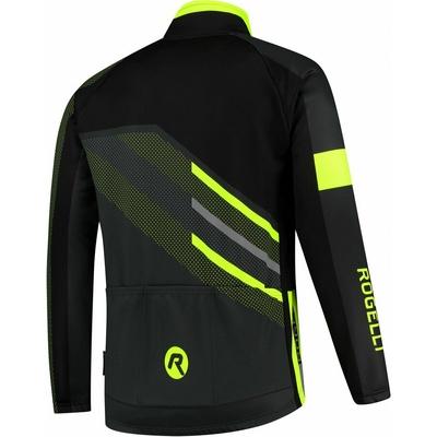 Membránová cyklistická bunda Rogelli TEAM 2.0, čierna-reflexná žltá 003.970, Rogelli