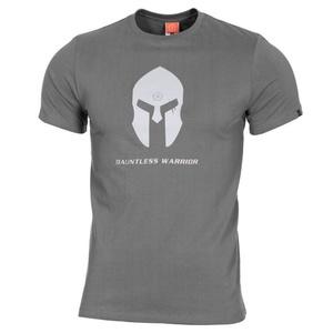 Pánske tričko PENTAGON® Spartan helmet wolf grey