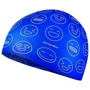 Juniorská plavecká čiapka Spokey Emoji modrá, Spokey