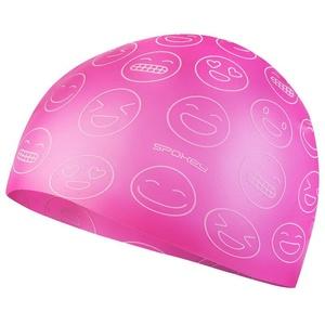 Juniorská plavecká čiapka Spokey Emoji ružová, Spokey