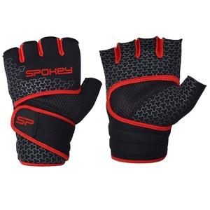 Neoprénové fitness rukavice Spokey LAVA čierno-červené, Spokey