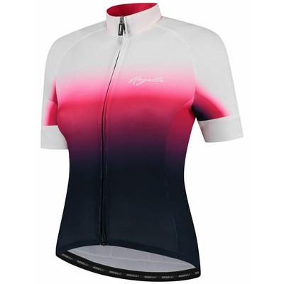Dámsky prémiový cyklodres Rogelli DREAM s krátkym rukávom, modro-ružovo-biely 010.091, Rogelli