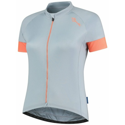 Dámsky cyklistický dres Rogelli Modesta s krátkym rukávom, šedo-modro-koralový 010.109, Rogelli