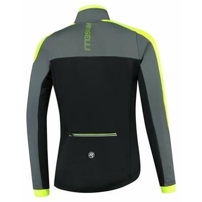Pánska zimná bunda Rogelli Freeze čierno-šedo-reflexná žltá ROG351020, Rogelli
