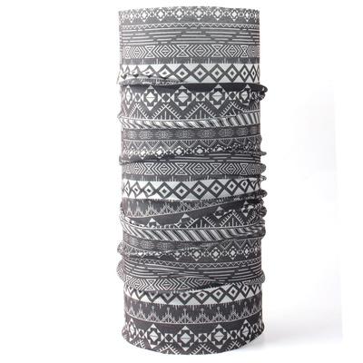 Multifunkčné šatka Husky Printemp grey triangle stripes, Husky