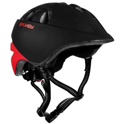 Detská cyklistická prilba Spokey CHERUB 48-52 cm, čierno-červená, Spokey