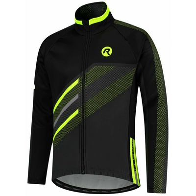 Membránová cyklistická bunda Rogelli TEAM 2.0, čierna-reflexná žltá 003.970
