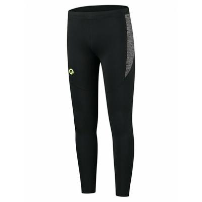 Pánske bežecké nohavice Rogelli Enjoy čierno-reflexná žlté ROG351100, Rogelli