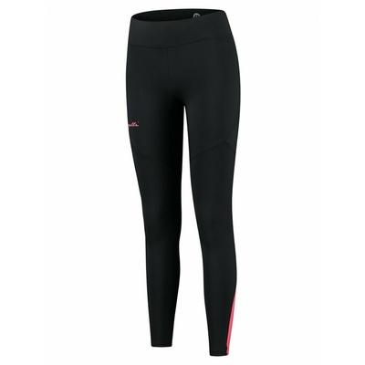 Dámske zateplené bežecké nohavice Rogelli Enjoy čierno-šedo-ružové ROG351108, Rogelli