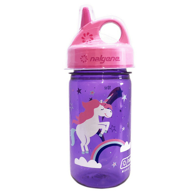 Fľaša Nalgene Grip and Gulp purple / pink unicorn, Nalgene