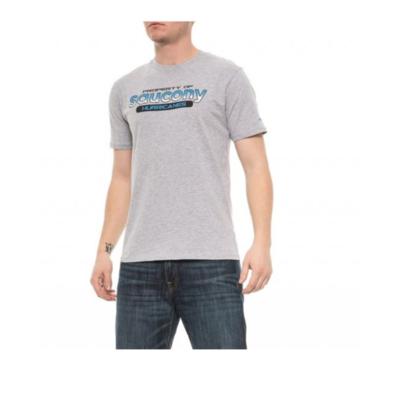 Pánske tričko Saucony Men Ra Graphic Tee / Heather Grey