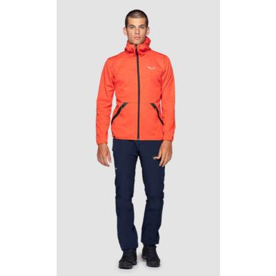 Pánska mikina Salewa Nuvolao Alpinewool red orange 28051-4151