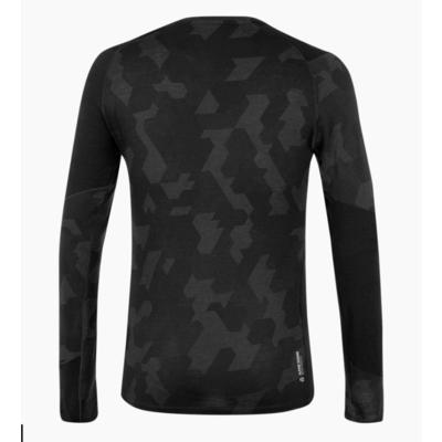 Pánske termo oblečenie triko Salewa Cristallo warm merino responsive black out 28205-0910, Salewa
