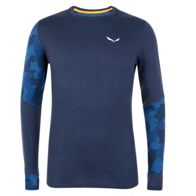 Pánske termo oblečenie triko Salewa Cristallo warm merino responsive navy blazer 28205-3960, Salewa