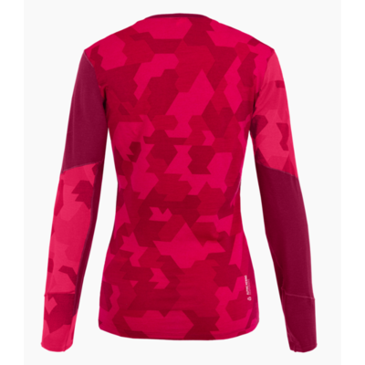 Dámske termo oblečenie tričko Salewa Cristallo Warm Merino rhodo red 28206-6360, Salewa