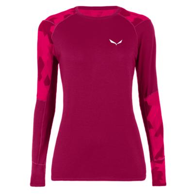 Dámske termo oblečenie tričko Salewa Cristallo Warm Merino rhodo red 28206-6360
