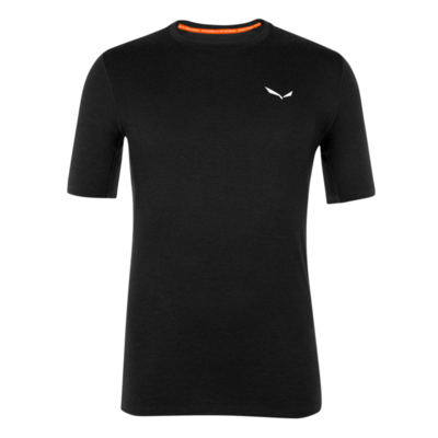 Pánske termo oblečenie tričko Salewa Cristallo warm merino responsive black out 28207-0910, Salewa