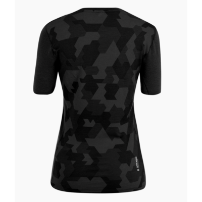Dámske termo oblečenie tričko Salewa Cristallo warm merino responsive black out 28208-0910, Salewa