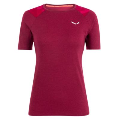 Dámske termo oblečenie tričko Salewa Cristallo warm merino responsive rhodo red 28208-6360, Salewa