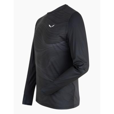 Pánske termo oblečenie tričko Salewa Cristallo warm merino responsive black out 28207-0910