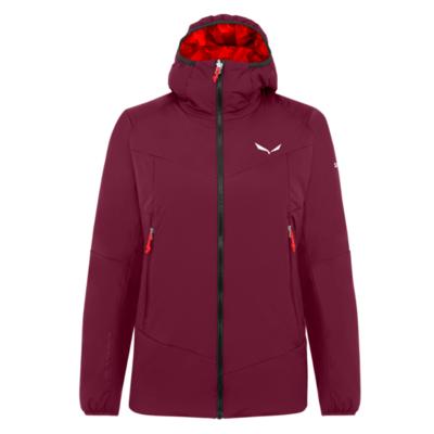 Dámska zimná bunda Salewa Ortles Tirolwool Responsive stretch hooded rhodo red 28248-6360