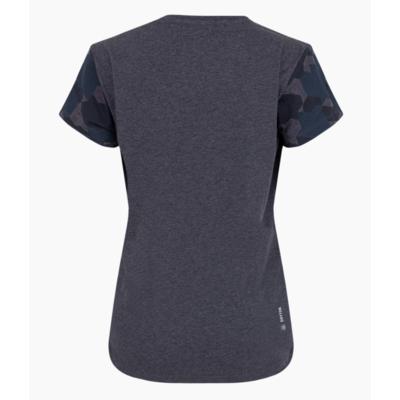 Dámske tričko Salewa Camou Sleeve Dry premium navy melange 28260-3986
