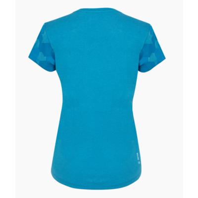 Dámske tričko Salewa Camou Sleeve Dry blue danube melange 28260-8989
