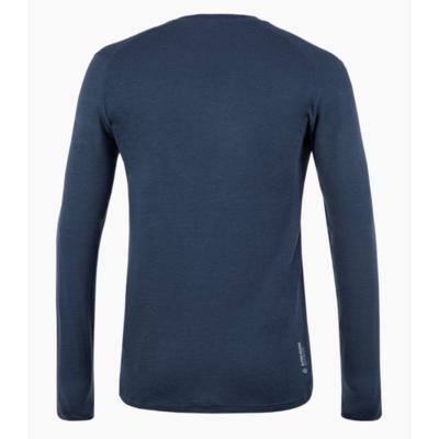 Pánske tričko Salewa pure logo merino responsive long Sleeve Tee navy blazer 28262-3960