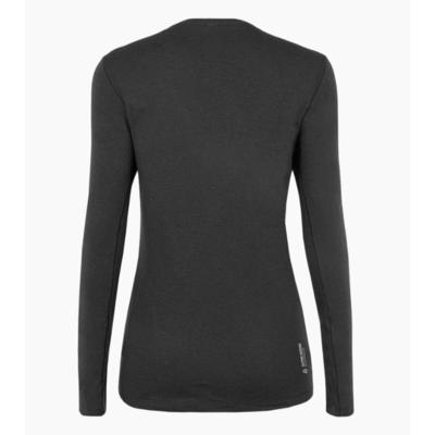 Dámske tričko Salewa pure logo merino responsive long Sleeve Tee black out 28263-0910