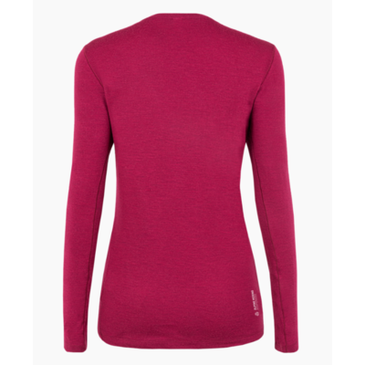 Dámske tričko Salewa pure logo merino responsive long Sleeve Tee rhodo red 28263-6360