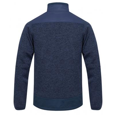 Pánsky fleecový sveter na zips Husky alan M čiernomodrá / tm. modrá, Husky