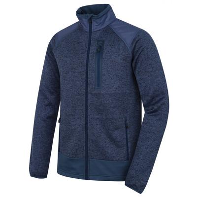 Pánsky fleecový sveter na zips Husky alan M čiernomodrá / tm. modrá