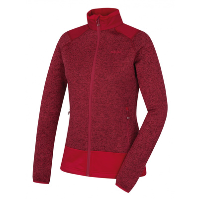 dámsky fleecový sveter na zips Husky Alan L tm. purpurová