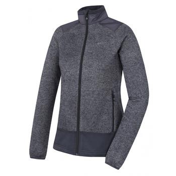 dámsky fleecový sveter na zips Husky Alan L tmavo šedá