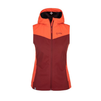 Dámska softshellová vesta Kilpi CORTINA-W tmavo červená