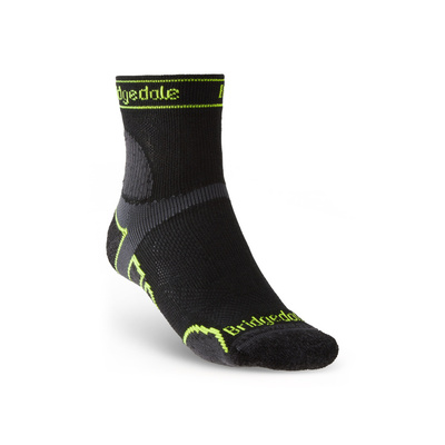 Ponožky Bridgedale TRAIL RUN LW T2 MS 3/4 CREW Black/845, bridgedale