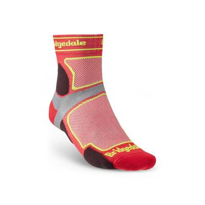 Ponožky Bridgedale TRAIL RUN UL T2 CS 3/4 CREW Red/325, bridgedale