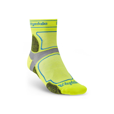 Ponožky Bridgedale TRAIL RUN UL T2 CS 3/4 CREW Yellow/550, bridgedale